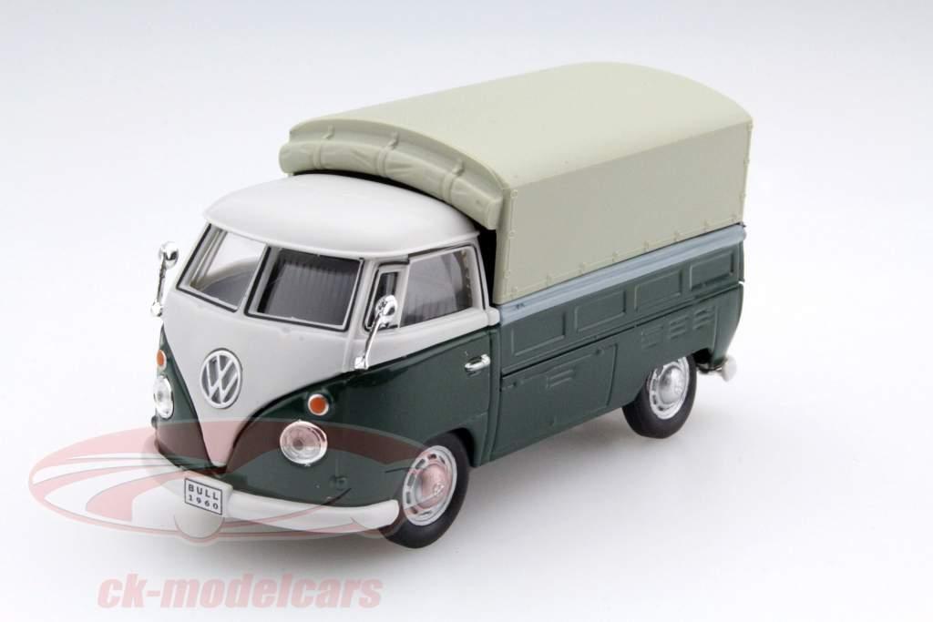 Volkswagen VW T1 Pick Up Com Planos verde / bege 1:43 Cararama