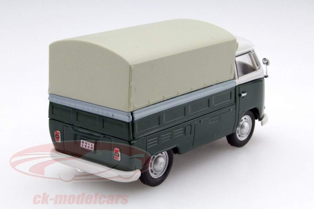 Volkswagen VW T1 Pick Up Met Plannen groen / beige 1:43 Cararama