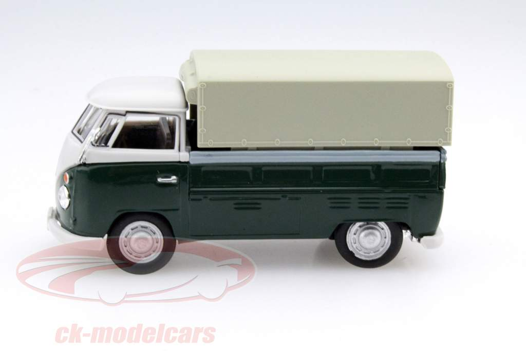 Volkswagen VW T1 Pick Up Avec Des plans vert / beige 1:43 Cararama