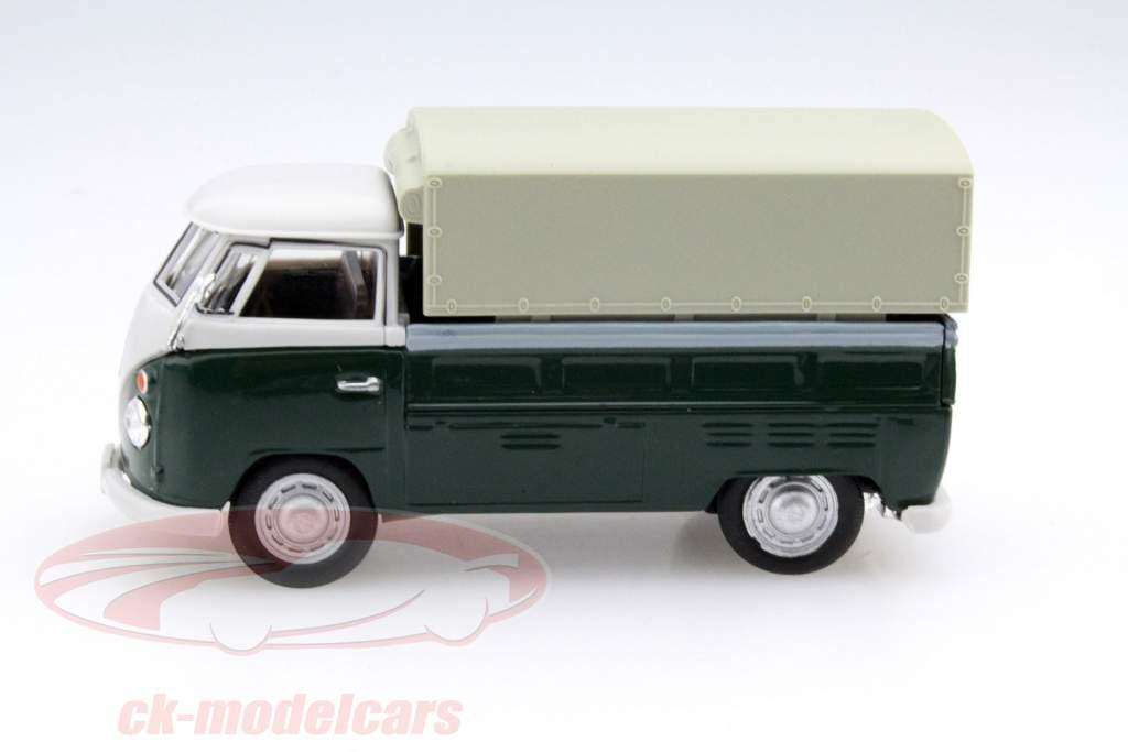 Volkswagen VW T1 Pick Up Con Piani verde / beige 1:43 Cararama