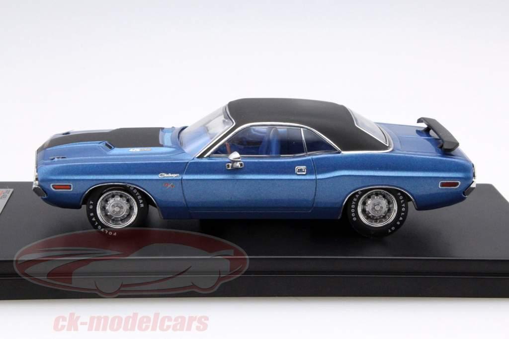 Dodge Challenger R/T anno 1970 blu / nero 1:43 Premium X
