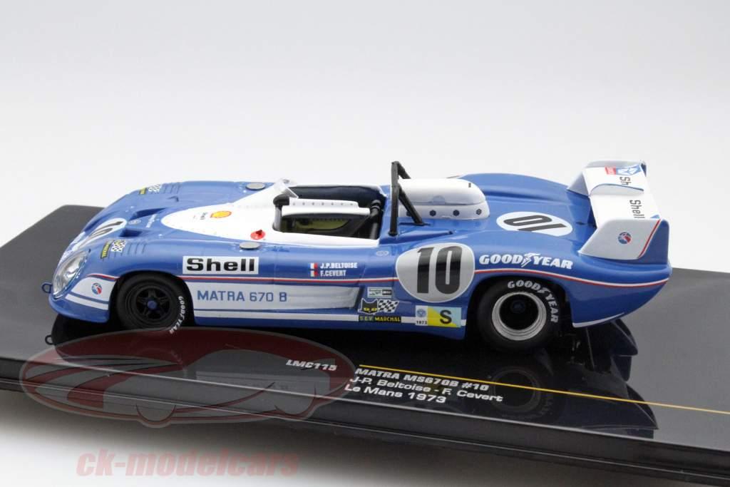 Matra MS670B #10 24 LeMans 1973 Beltoise / Cevert 1:43 Ixo