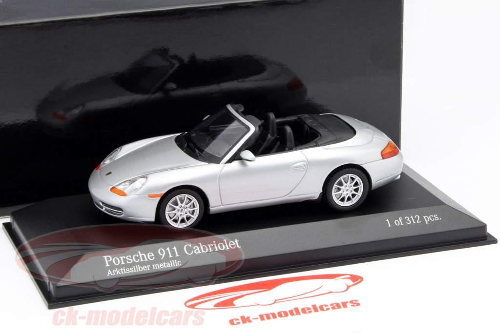 Porsche 911 (996) Cabriolet année 1998 argent 1:43 Minichamps