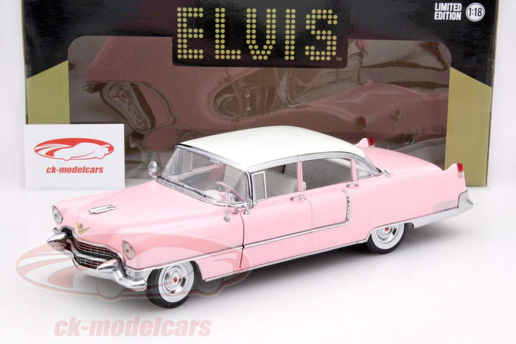 Cadillac Fleetwood Series 60 Elvis Presley Baujahr 1955 pink 1:18 Greenlight