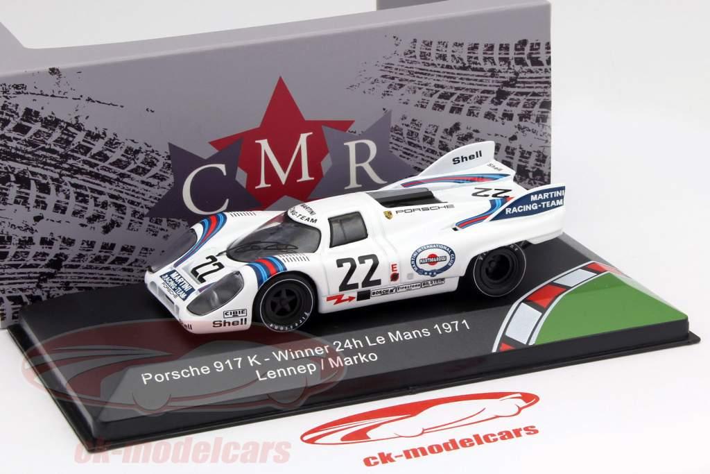 Porsche 917K #22 gagnant 24h LeMans 1971 Marko, van Lennep 1:43 CMR