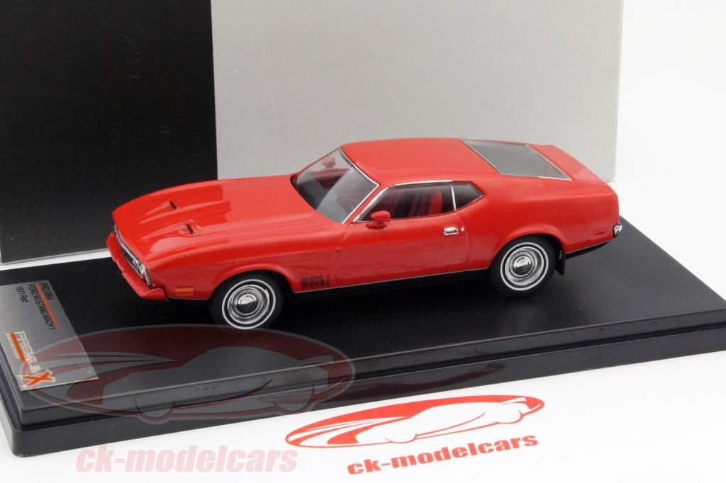 Ford Mustang Mach 1 Bouwjaar 1971 rood 1:43 PremiumX