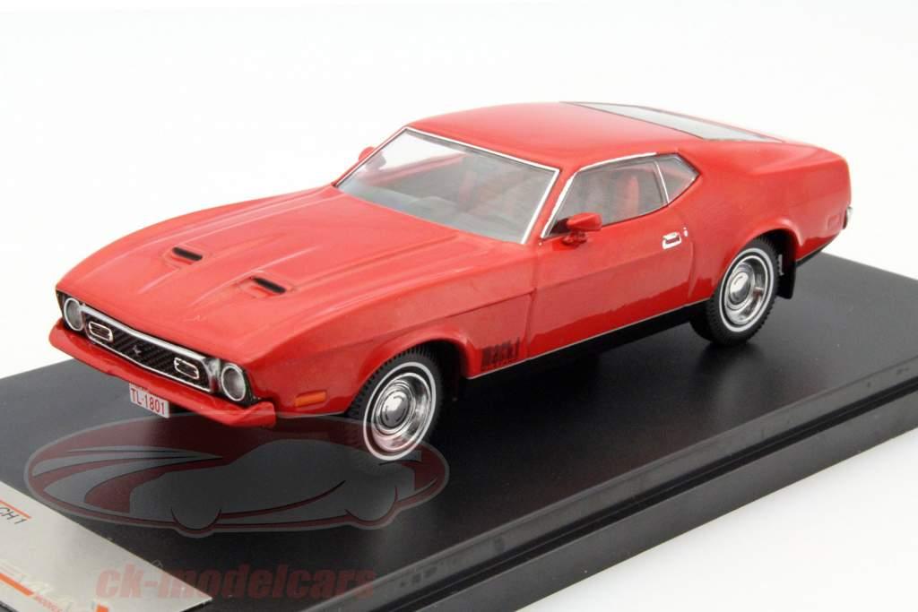 Ford Mustang Mach 1 ano de construção 1971 vermelho 1:43 PremiumX