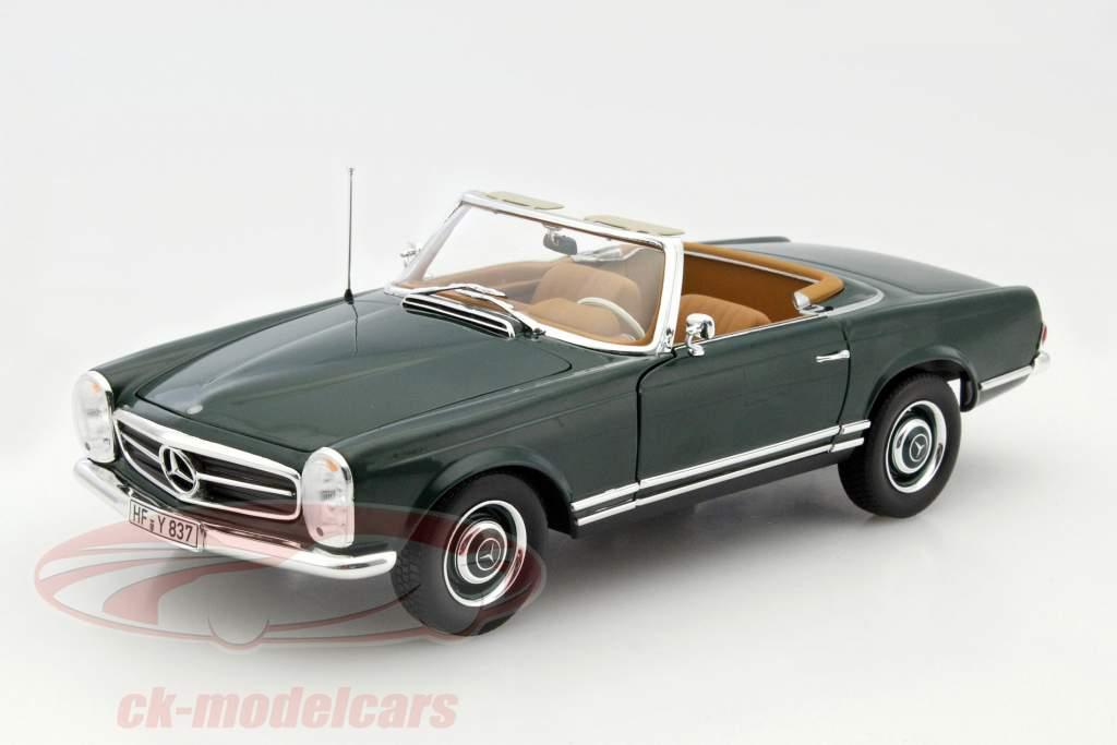 Mercedes-Benz 230 SL (W113) Pagode Cabriolet année 1963 vert foncé 1:18 Norev