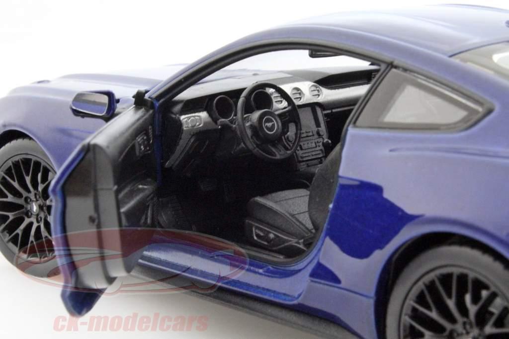 Ford Mustang GT Baujahr 2015 blau 1:24 Welly