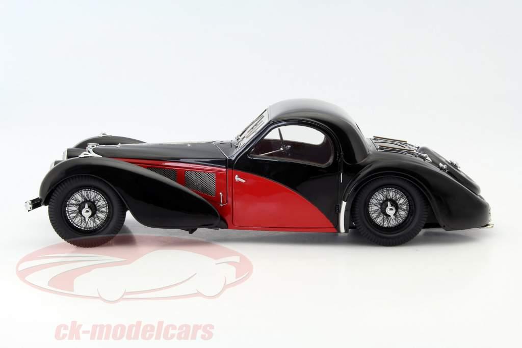 Bugatti Type 57 SC Atalante Baujahr 1937 schwarz / rot 1:12 Bauer