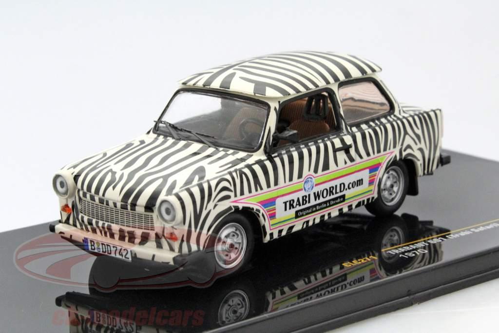 Trabant 601 Safari Year 1970 black / white 1:43 Ixo