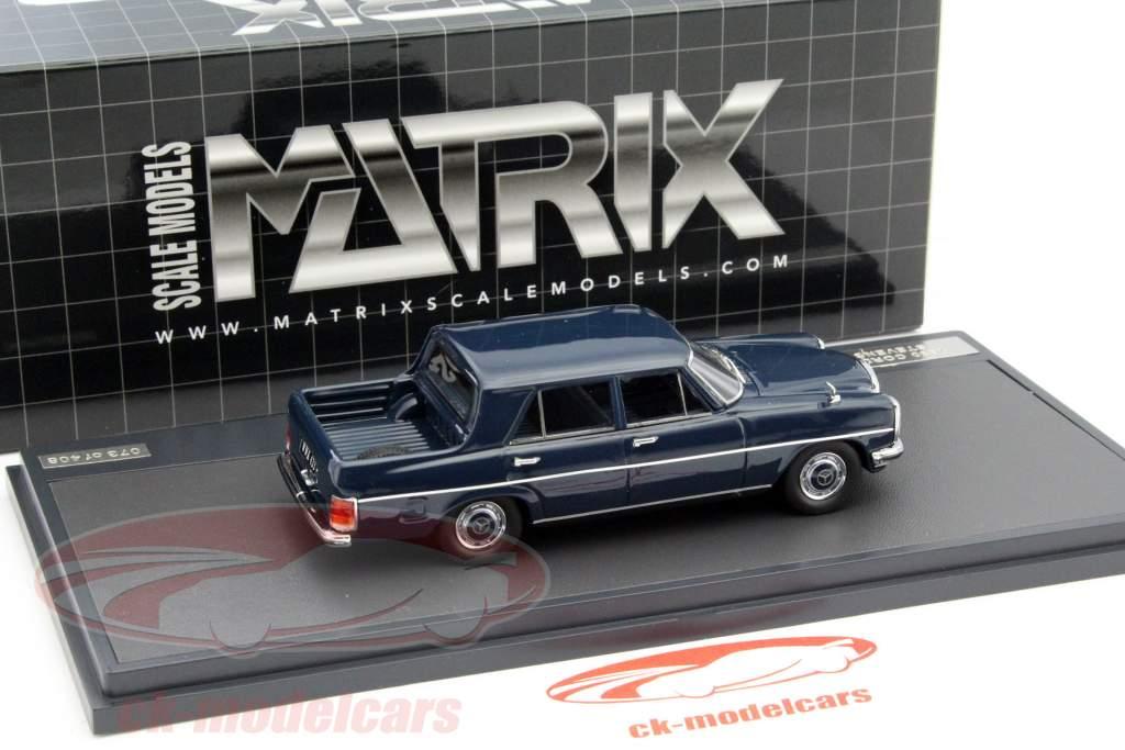Mercedes-Benz Binz W115 Pick Up Double Cabin año 1930 azul oscuro 1:43 Matrix