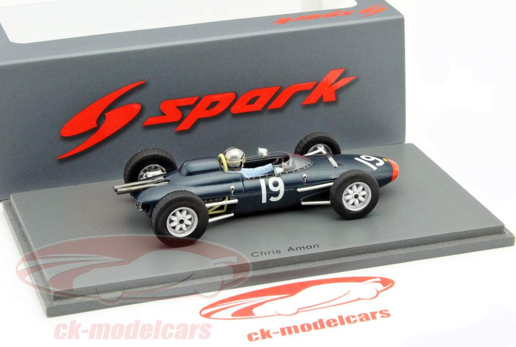 Chris Amon Lola Mk4A #19 Großbritannien GP Formel 1 1963 1:43 Spark