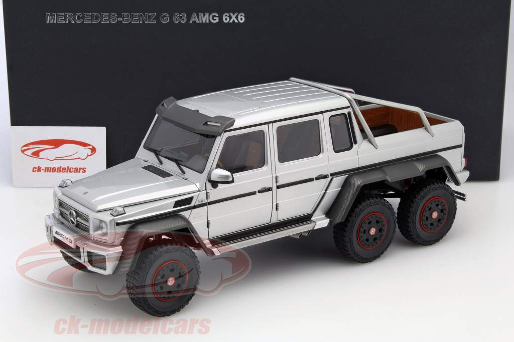 autoart 1:18 mercedes-benz g63 amg 6x6 year 2013 silver 76301 model