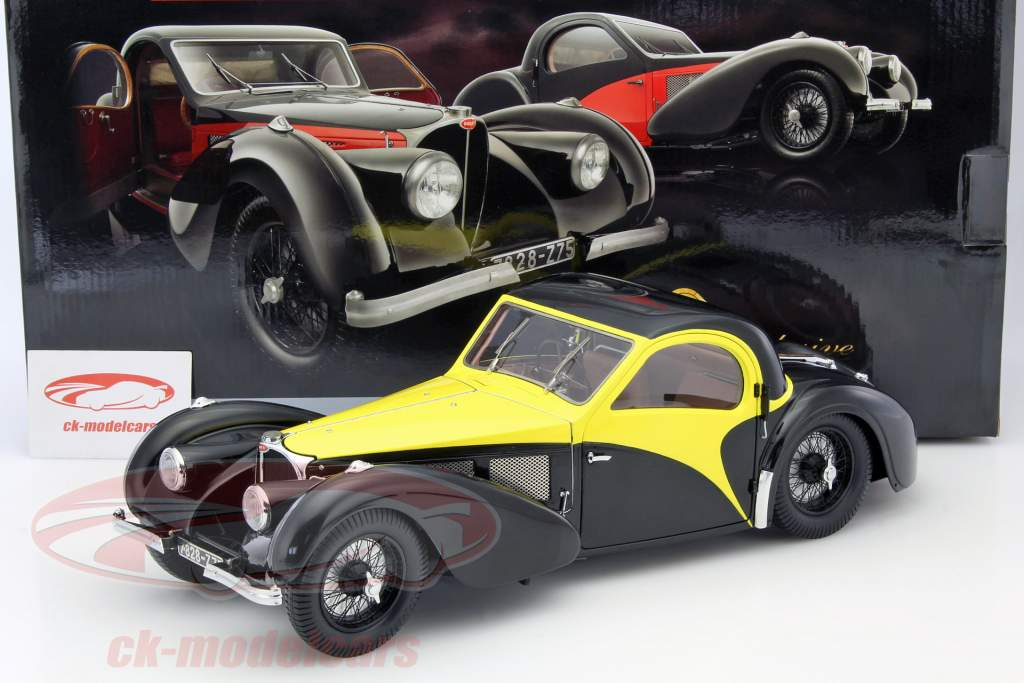 Bugatti Atalante Type 57 SC Year 1937 black / yellow 1:12 Bauer