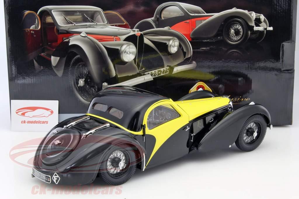 Bugatti Atalante Type 57 SC anno 1937 nero / giallo 1:12 Bauer