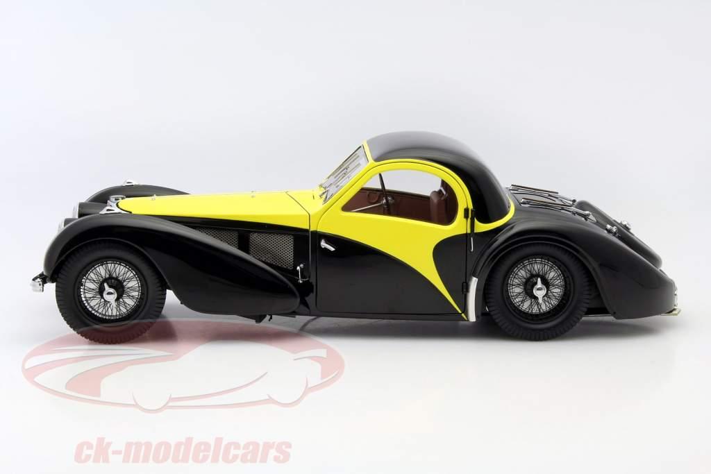 Bugatti Atalante Type 57 SC jaar 1937 zwart / geel 1:12 Bauer