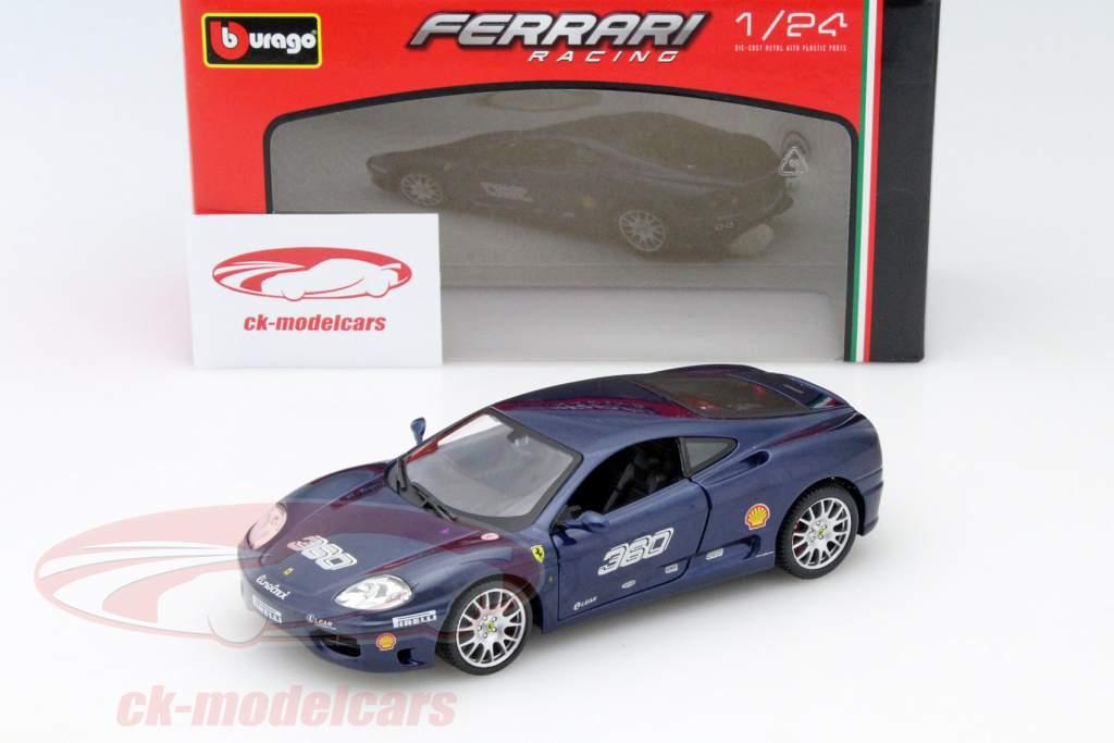 Bburago 1 24 Ferrari 360 Challenge azul escuro 18-26304 modelo carro ... a2d91bb5b8c
