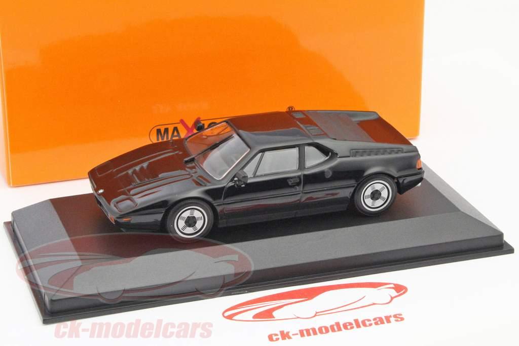 BMW M1 jaar 1979 zwart 1:43 Minichamps