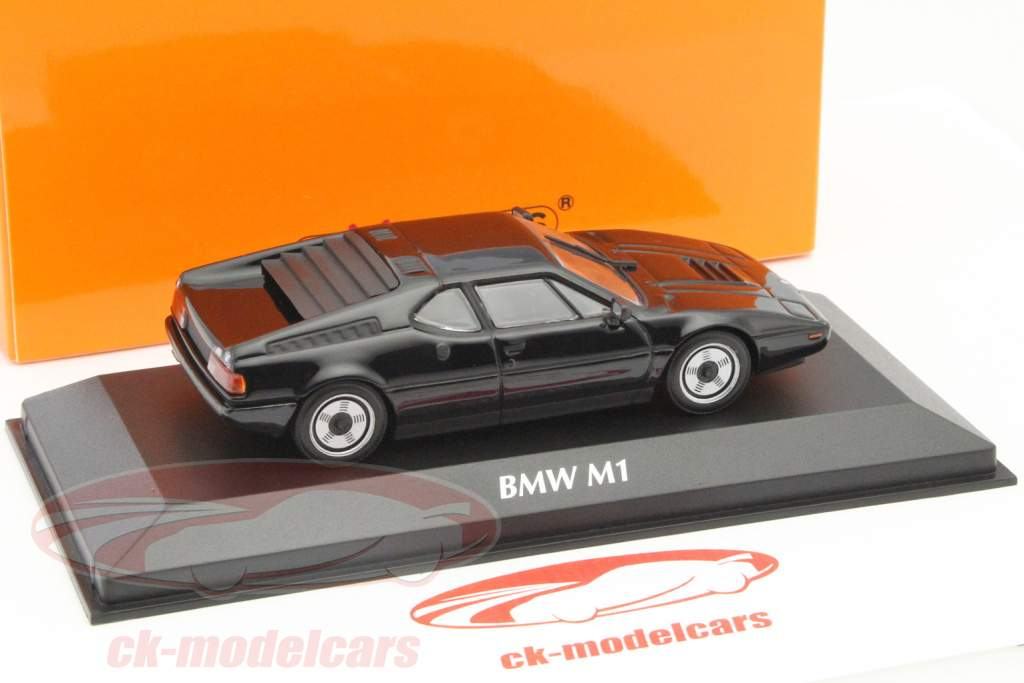 BMW M1 Year 1979 black 1:43 Minichamps