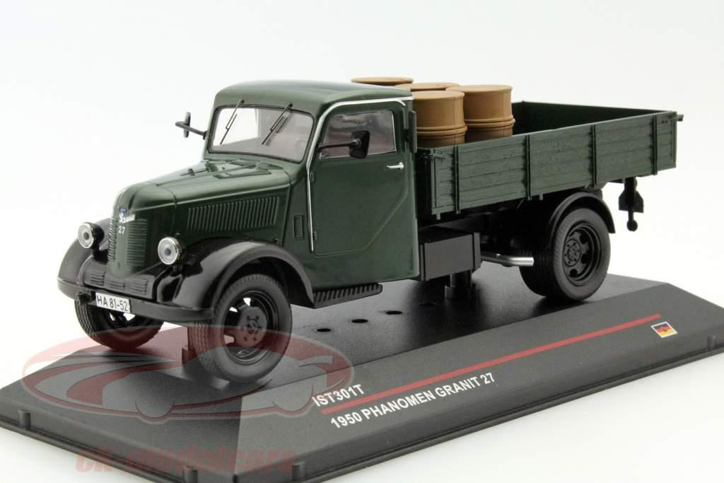 Phänomen Granit 27 con carga año 1950 verde oscuro 1:43 Ixo