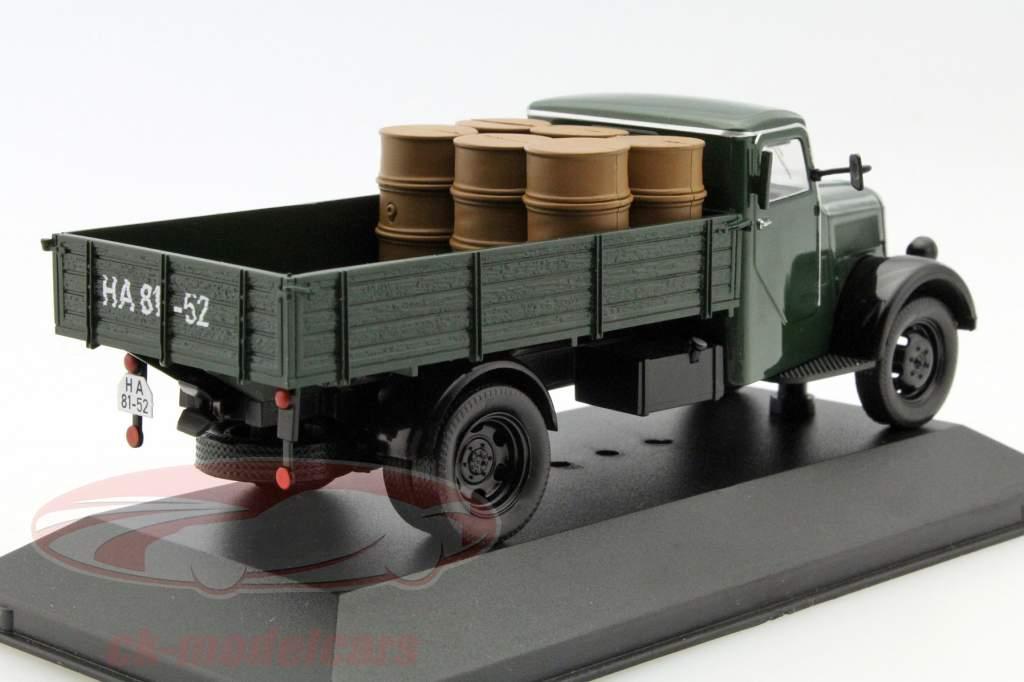 Phänomen Granit 27 com carga ano 1950 verde escuro 1:43 Ixo