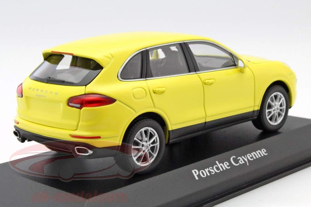 Porsche Cayenne année 2014 jaune 1:43 Minichamps