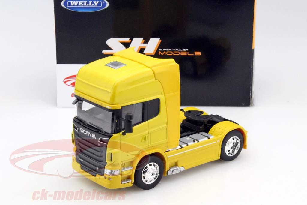 Scania V8 R730 (4x2) Baujahr 2015 gelb 1:32 Welly