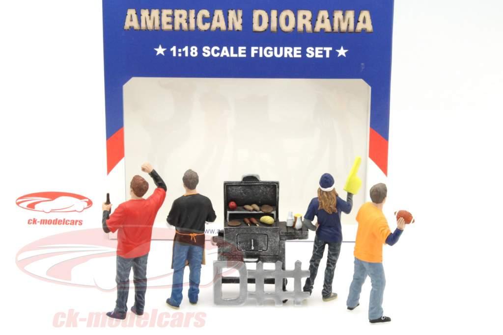 Tailgate Party Set II 1:18 American Diorama