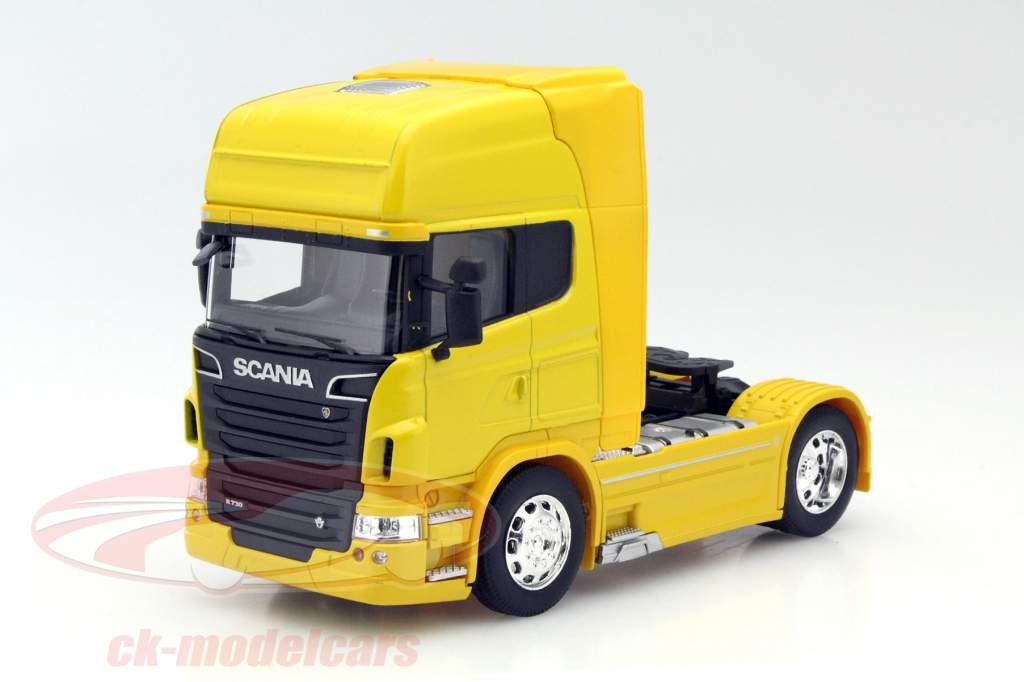Scania V8 R730 (4x2) Year 2015 yellow 1:32 Welly