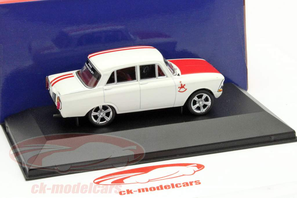 Moskwitch 408 Custom Tuning Year 1968 Toy Fair Nürnberg 2011 white / red 1:43 Ixo