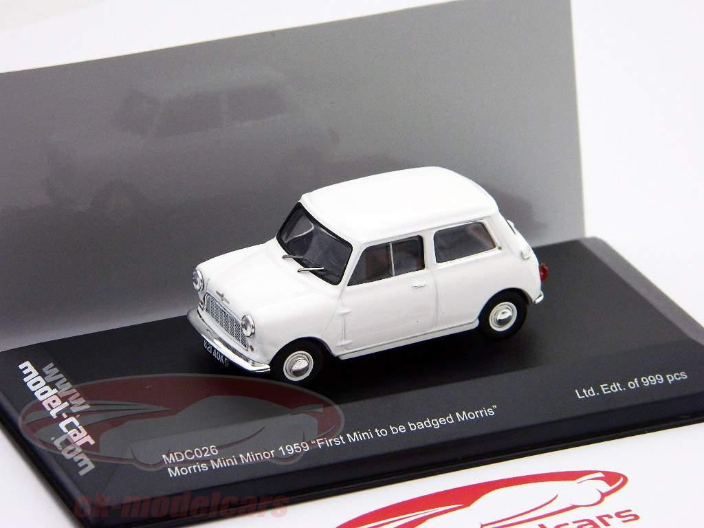 "Morris Mini Minor 1959 Wit ""First Mini to be badged Morris"" 1:43 Ixo"