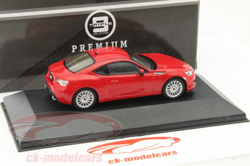 Subaru BRZ STI tS Year 2013 red 1:43 Triple 9