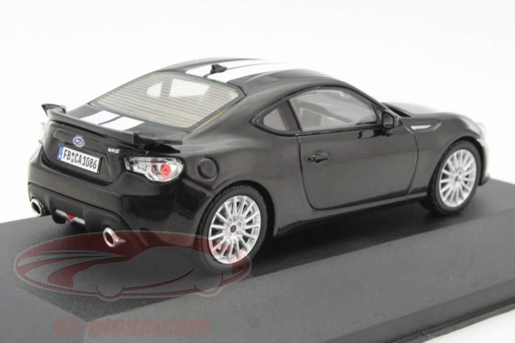 Subaru BRZ Baujahr 2013 schwarz / weiß 1:43 Triple 9