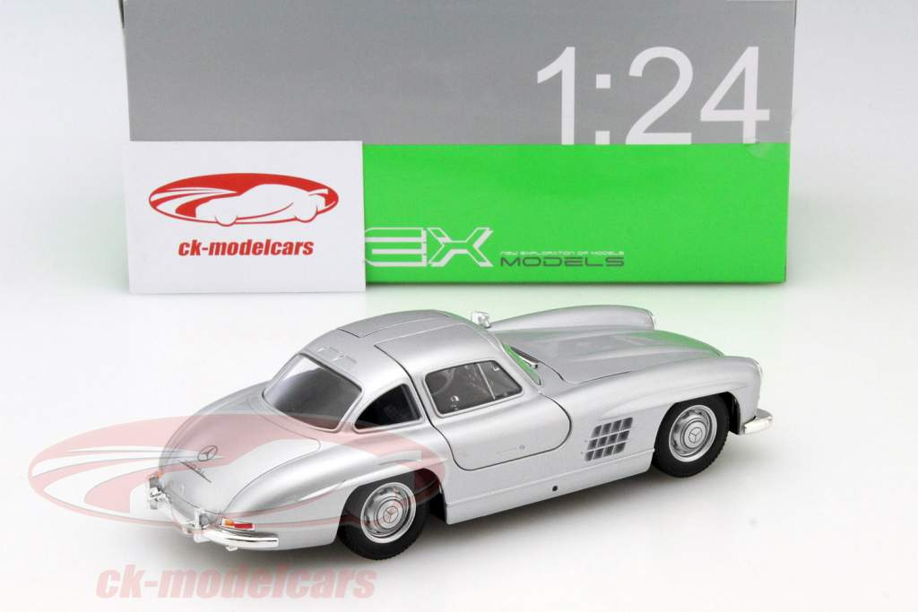Mercedes-Benz 300 SL sølvgrå 1:24 Welly