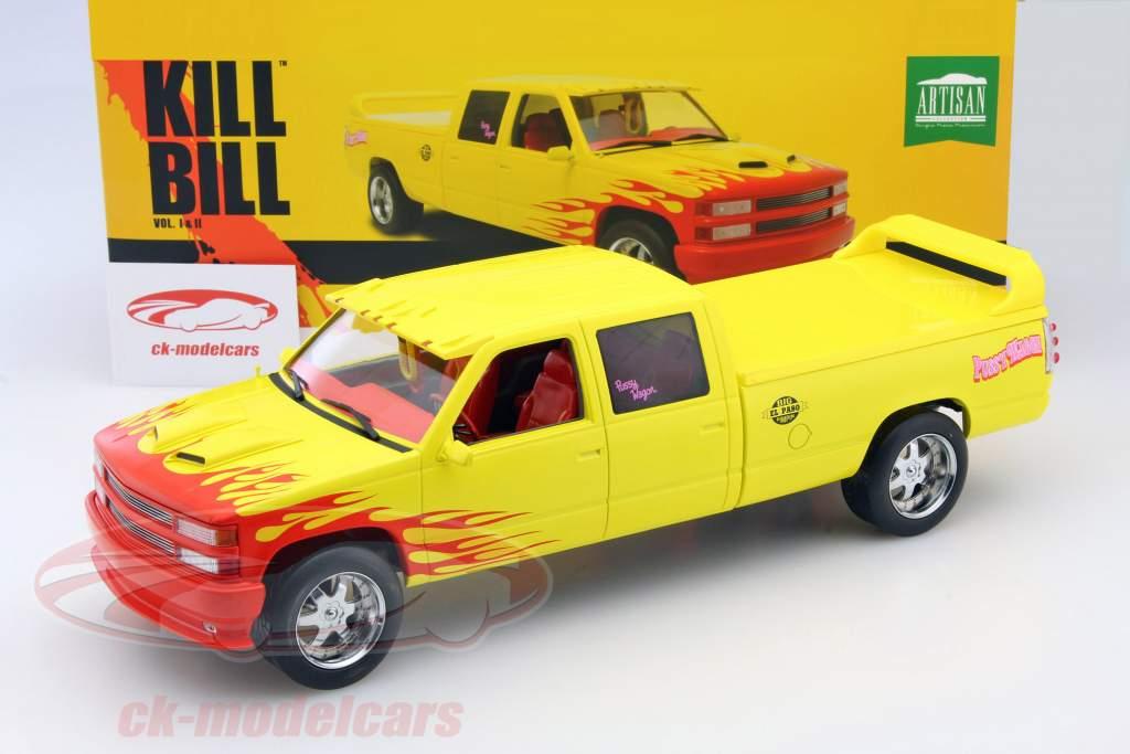 Chevrolet C-2500 Silverado Pussy Wagon Kill Bill Vol.I and II. jaune 1:18 Greenlight