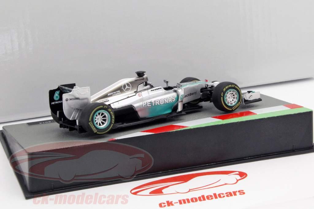 Lewis Hamilton Mercedes F1 W05 Hybrid #44 campeón del mundo fórmula 1 2014 1:43 Altaya