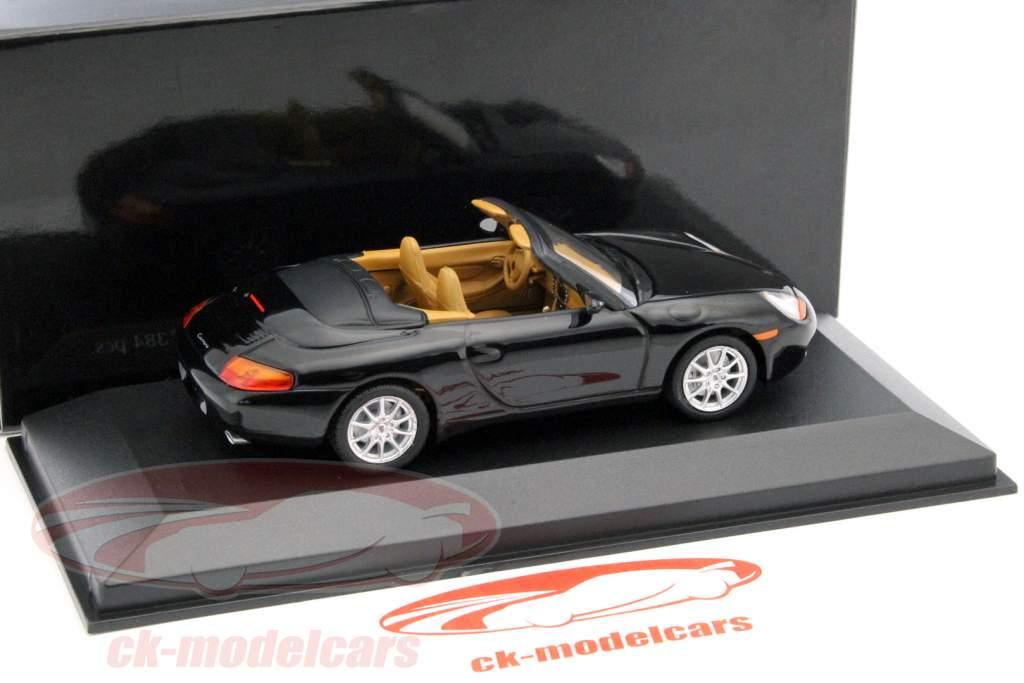Porsche 911 cabriolé ano 1998 preto metálico 1:43 Minichamps