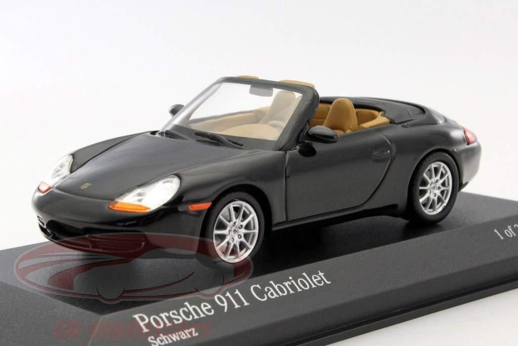 Porsche 911 cabriolé año 1998 metálico negro 1:43 Minichamps