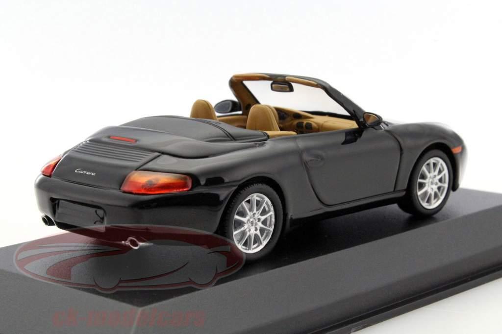 Porsche 911 Cabriolet år 1998 sort metallic 1:43 Minichamps