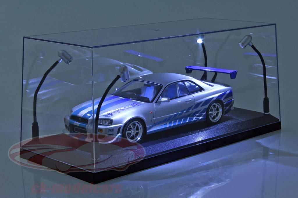 solteiro mostruário com 4 móvel CONDUZIU lâmpadas para modelo carros dentro escala 1:18 Triple9