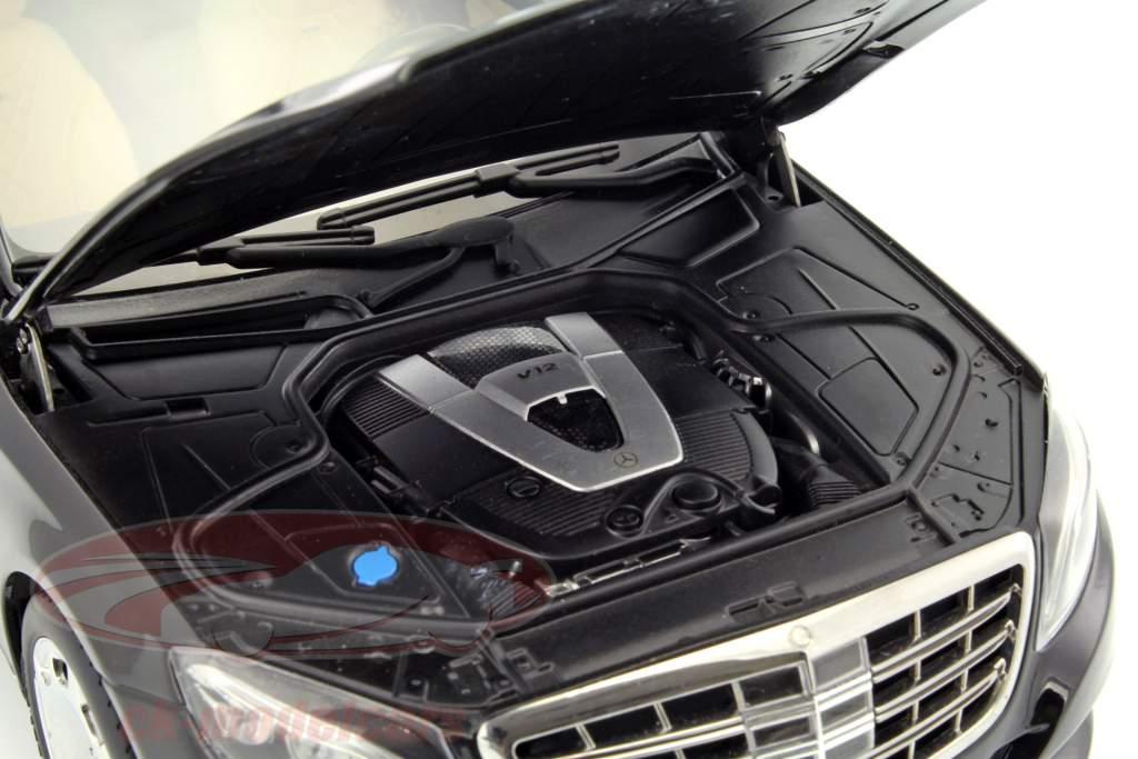 Mercedes-Benz Maybach S-classe (S600) SWB ano de construção 2015 preto 1:18 AUTOart