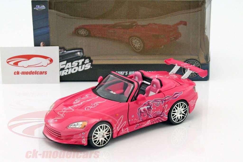 Jadatoys 124 Sukis Honda S2000 2 Fast Furious 2003 Pink 97604 Model Car 801310976043