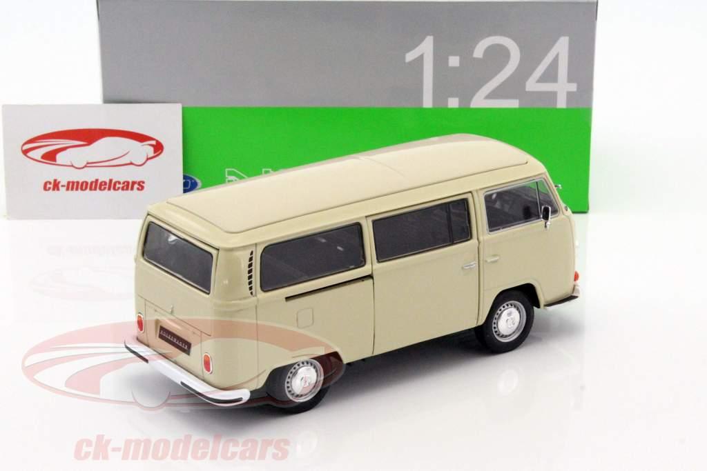 Volkswagen VW T2 Bus anno di costruzione 1972 crema 1:24 Welly