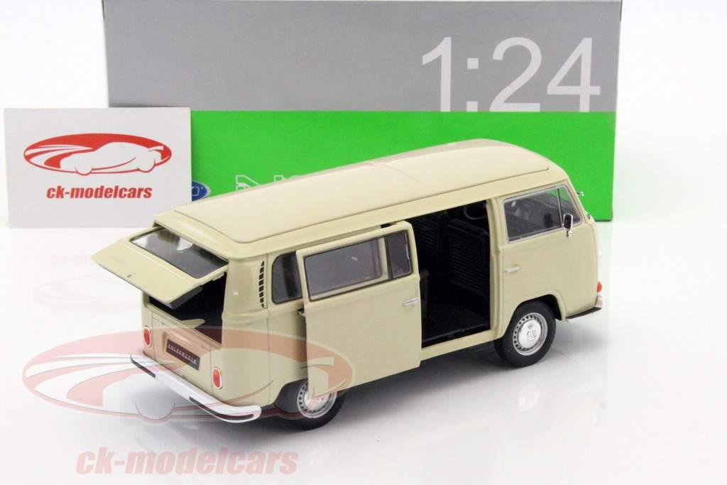 Volkswagen VW T2 Bus Baujahr 1972 creme 1:24 Welly