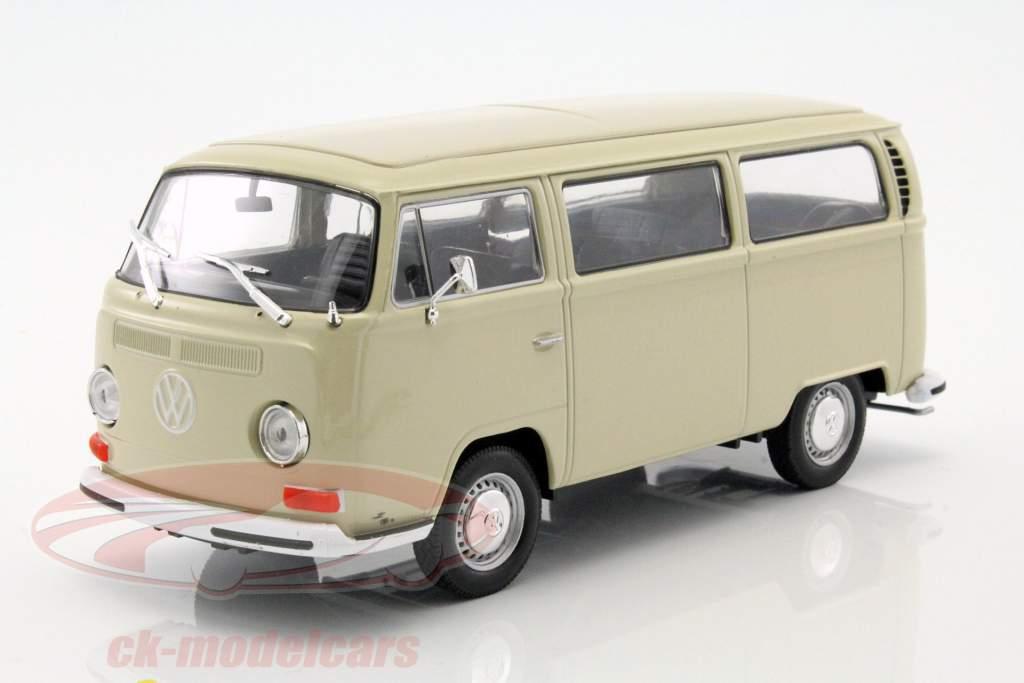 Volkswagen VW T2 Bus year 1972 cream 1:24 Welly