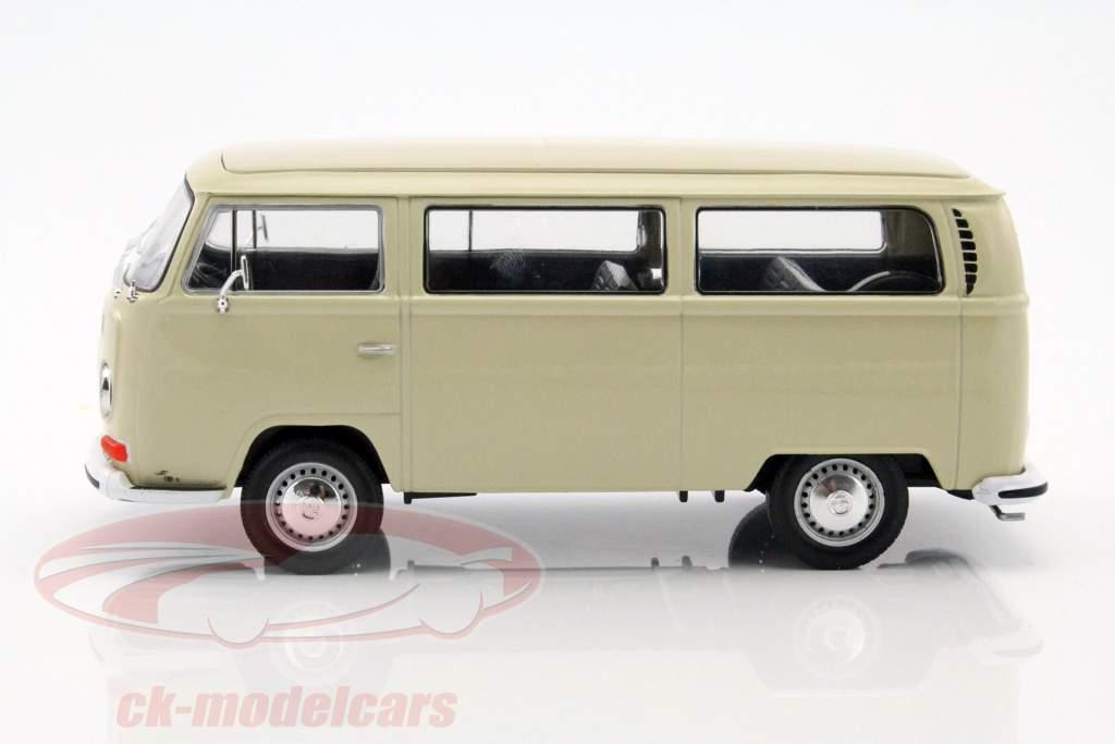 Volkswagen VW T2 Bus Opførselsår 1972 creme 1:24 Welly