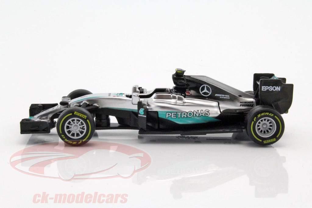 Nico Rosberg Mercedes F1 W07 Hybrid #6 champion du monde formule 1 2016 1:43 Bburago