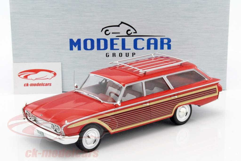 Ford Country Squire com olhar de madeira vermelho 1:18 Model Car Group