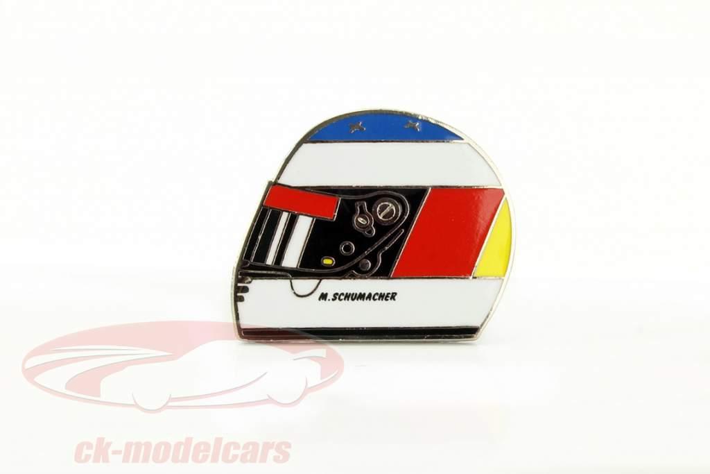 Michael Schumacher capacete Pin Jordan 1º raça estância termal GP fórmula 1 1991
